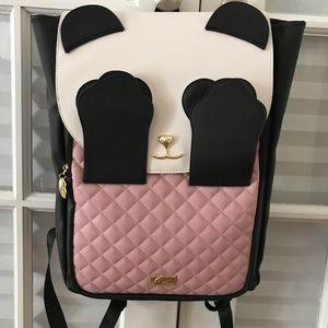 PEEK-A-BOO PANDA Backpack Betsey Johnson NWT